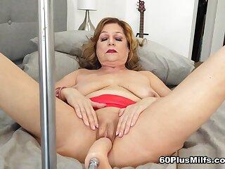 Brenda And The Fuck Machine - Brenda Douglas - 60PlusMilfs