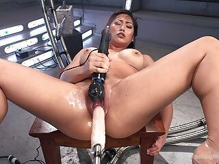 Mia Little needs her fingers, dildo, vibrator and a fuck machine